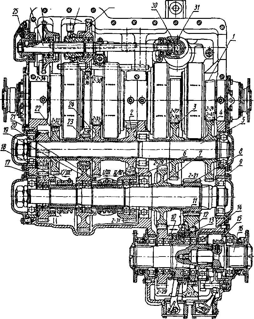 Коробка передач тракторов К-700А и К-701.